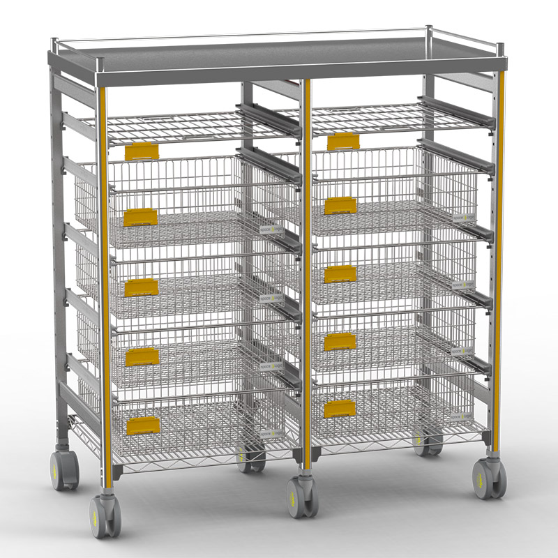 Sterirack Medical Trolley 1200x600x1500 double