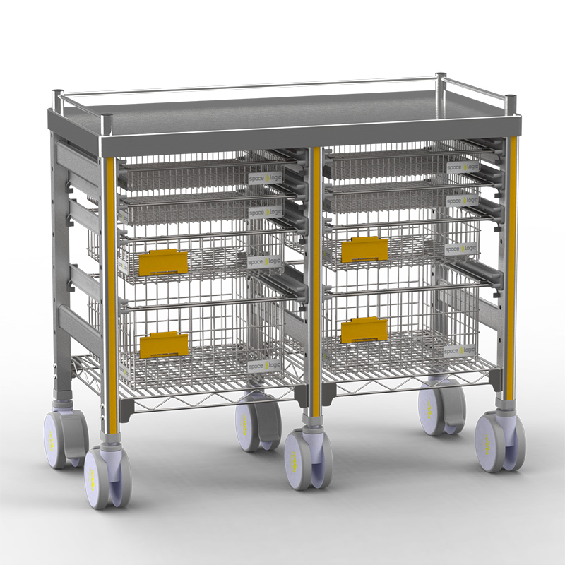 Sterirack Medical Trolley 400x400x840 double