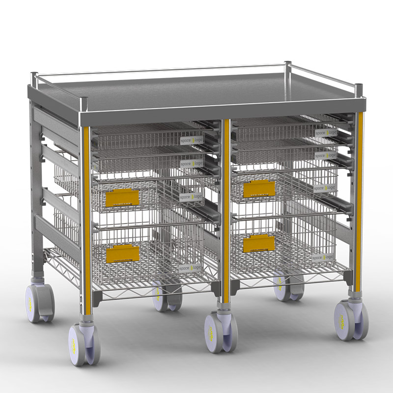 Sterirack Medical Trolley 400x600x600 double